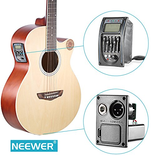 Neewer Acoustic 5-Band EQ Equalizer Guitar Preamp Piezo Pickup Tuner with LCD Display