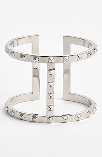 ad318a15c44 Image Unavailable. Image not available for. Color: Vince Camuto Silver-tone  Stud Cuff Bracelet