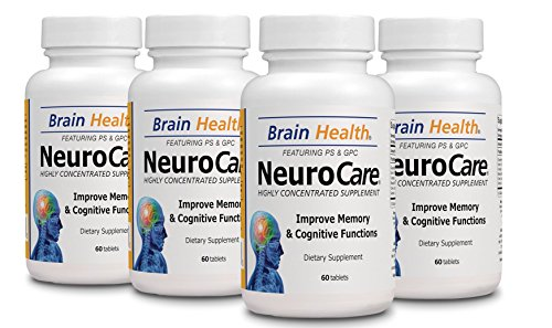 - 4 Neuro Care - Improve Memory - 100% Natural - Dietary Supplement