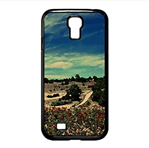 Field Of Poppies 1 Watercolor style Cover Samsung Galaxy S4 I9500 Case (Landscape Watercolor style Cover Samsung Galaxy S4 I9500 Case)