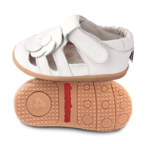 Sapatos Branco Shooshoos Walker Sapatos De Bebê Bebê 1xwwT5q6