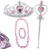 kilofly Princess Party Favor Girls Birthday Jewelry Costume Set + Gift Pouch