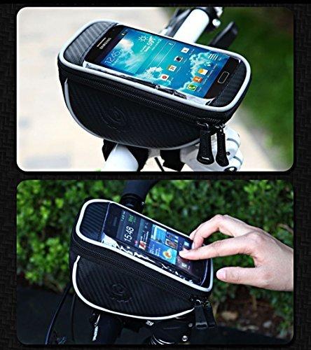JILLBAN 5.5 Inch Bike Handlebar Bag Phone Holder for iPhone 6 6Plus 6S 5 5S Samsung