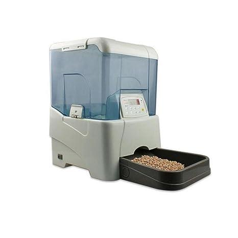 WYXIN Alimentador automático de mascotas, dispensador automático de alimentos con grabadora de voz y temporizador