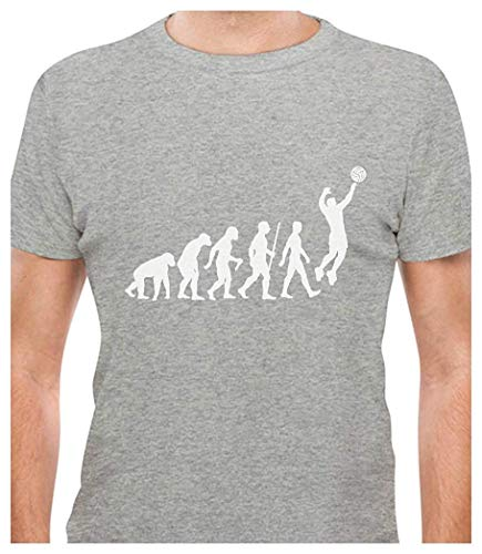 Comsuela Volleyball Evolution - Gift for Volleyball Player T-Shirt Gray ()