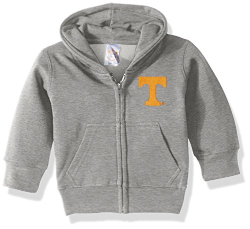 NCAA Tennessee Volunteers Full Zip Hooded Fleece Jacket, 12 months, Gray