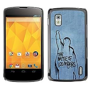 LECELL -- Funda protectora / Cubierta / Piel For LG Google Nexus 4 E960 -- Battle Of Los Angeles --