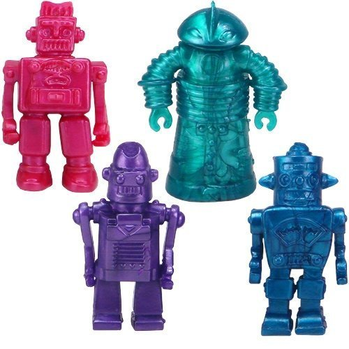 Price comparison product image Play Visions Stretchy Robots Action Figure (4 Pack)