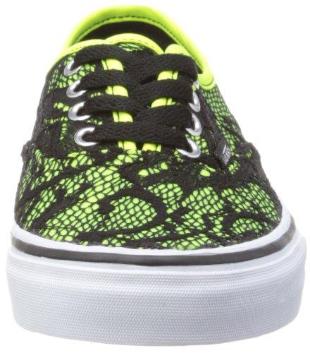 Vans U AUTHENTIC  (WASHED) BLACK - Zapatillas de lona unisex Neon Yellow