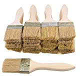 HATCHMATIC BQLZR 20PCS 17.5x4.5CM Stain Varnish Chip Brush Tool with Thin Wood Handle