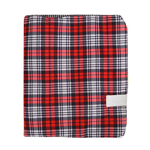 Classic Plaid Pattern Fabric Book Cover Assorted Printed Stretchable (Book Slipcase)