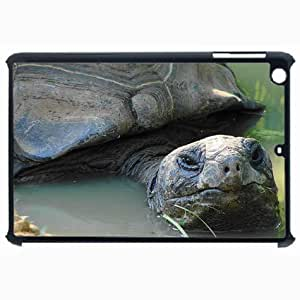 Customized Back Cover Case For iPad Air 5 Hardshell Case, Black Back Cover Design Aldabra Giant Tortoise Personalized Unique Case For iPad Air 5