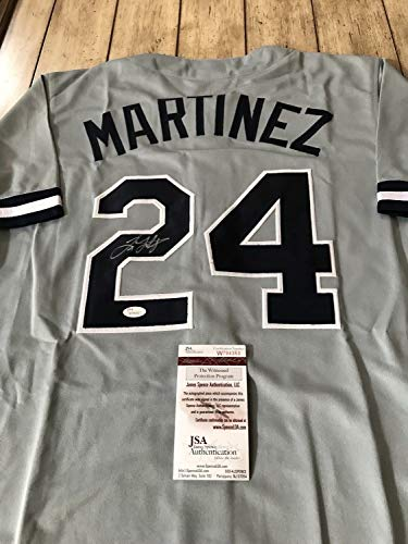 (Tino Martinez Autographed Signed/Autographed Signed Jersey JSA Authentic New York Yankees)