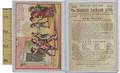Victorian Card, 1890's, Diamond Dyes, Burlington, VT, Say Boys, See The - Burlington Kids Vt