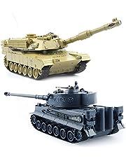 GizmoVine 1/28 RC Panzer Ferngesteuert Fuer Kinder RC Tank Spielzeug Panzer