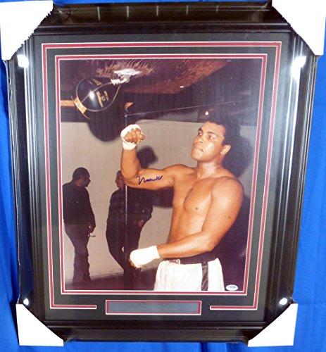 Muhammad Ali Autographed Framed 16x20 Photo PSA/DNA #S14052