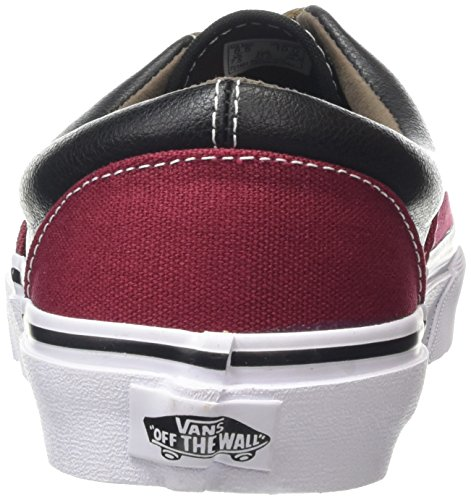 Vans Era, Zapatillas Unisex Adulto Multicolor (Leather/Plaid/Rhubarb/Black)
