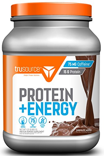 trusource 27 Servings Protein + Energy Powder with Whey Concentrate, Chocolate Mocha, 1.31 Pound Matrix Chocolate