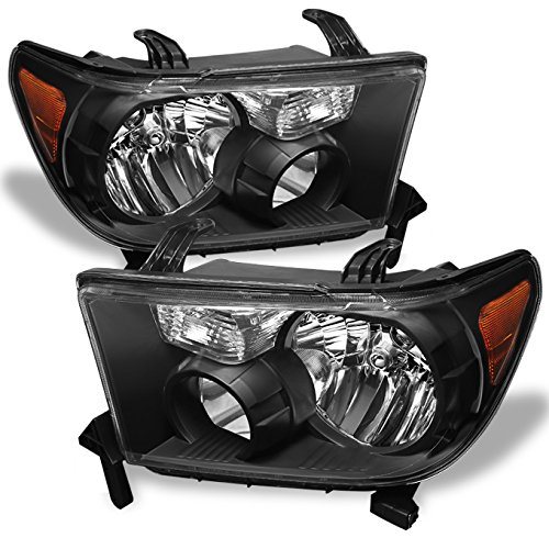 - For Toyota Tundra OE Replacement Black Headlights Driver/Passenger Head Lamps