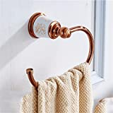 LAONA Continental copper rose gold ceramic bathroom accessory kit built-in shelf, Towel Ring