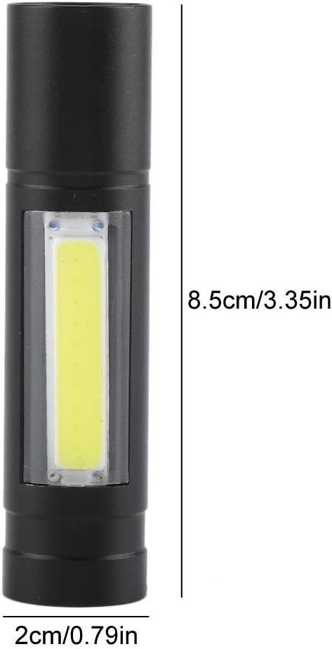 linterna linterna linterna con cuerda colgante 3 modos Linterna LED l/ápiz clip de luz mini impermeable port/átil LED XPE+ COB bolsillo de luz lateral recargable por USB