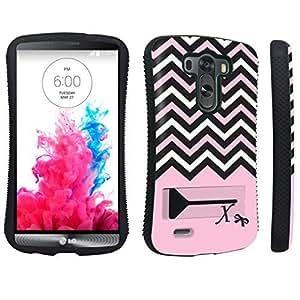 DuroCase ? LG G3 Kickstand Case - (Black Pink White Chevron X)
