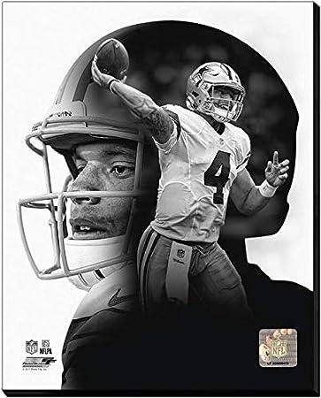 946f67ba1 Amazon.com  Dak Prescott Dallas Cowboys PROfile Stretched Canvas ...