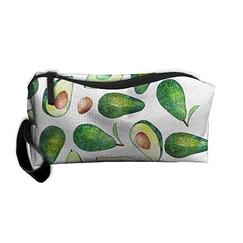 SLDLA7 Avocado Cosmetic Bag Toiletry Makeup Pouch Travel Bag Hanging Organizer Portable Storage Bag For Unisex