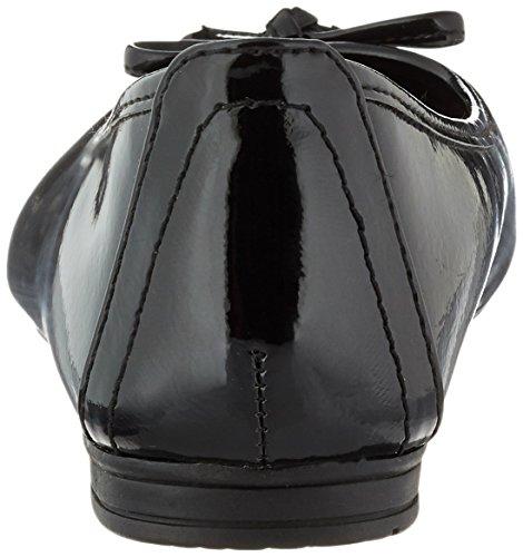 Softline 22163, Bailarinas Para Mujer Negro (Black Patent)