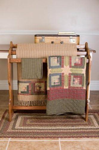VHC Brands 10713 Rustic Lodge Flooring-Tea Cabin Green Oval Jute Rug
