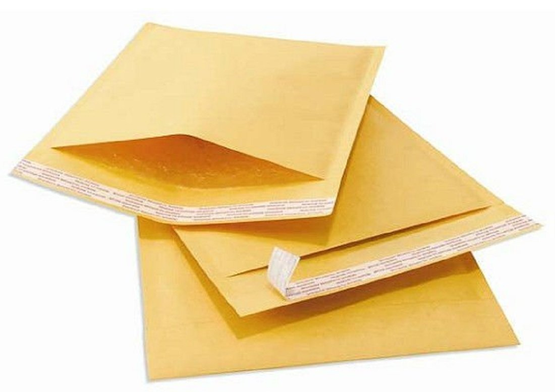 10 Small A7 Size Peel + Seal Gold Padded Bubble Envelopes - 90 x 145mm / 3.5 x 5.75' Postal Packing Mailing Shipping Postage Posting Self Seal Packaging Bags Mailers