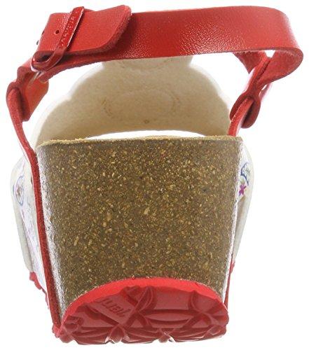 Mehrfarbig Desigual Roja 3061 Rojo Microrapport Sandalen Slingback odisea Shoes Damen YqzwZrY