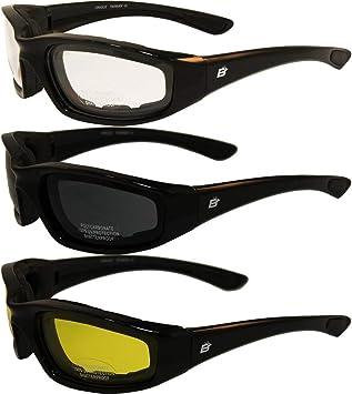 Rider Plus Sunglasses Case Smoke Safety Lens Motorcycle Cycling Ski Sports UV