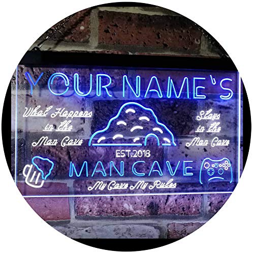AdvpPro 2C Personalized Your Name Custom Man Cave Establishe