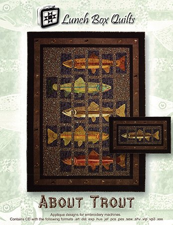 Amazon About Trout With Cd Applique Designs For Embroidery