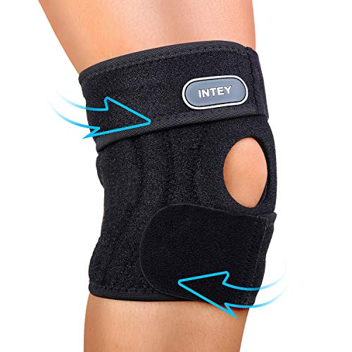 Daily Strip - INTEY Knee Brace Support, Neoprene Open-Patella Stabilizer with Adjustable Strip - Best Knee Brace for Arthritis Pain Relief, Meniscus Injury Recovery, Osteoarthritis, Daily Exercise, Men & Women