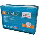 Walgreens Certainty Adjustable Underwear, Maximum Absorbency, Large 16 ea