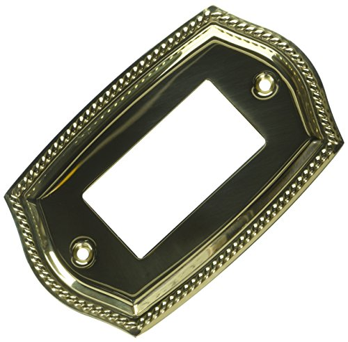 Baldwin 4796030 Single GFCI Rope Switch Plate, Bright Brass