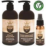 Be My Beard - Confezione da tre prodotti: shampoo e balsamo per barba e olio idratante per il viso