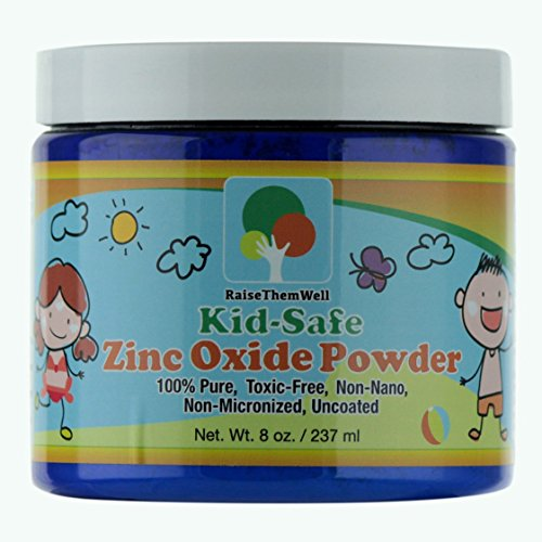 Kid-Safe Zinc Oxide Powder. Lead Free. 100% pure, non-nano, non-nicronized, uncoated, cosmetic grade powder. Great for sunscreens, acne creams, diaper creams, and more. (Homemade Face Masks For Pimples And Redness)