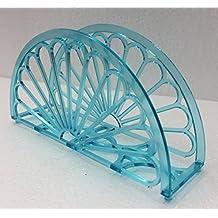 "7"" Napkin Holder - Fan Design 12 Pieces / Turquoise"