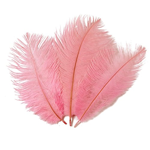 Pink Ostrich Feathers - Hgshow 6-to-8-Inch Ostrich Feather, 20-Pieces, Pink