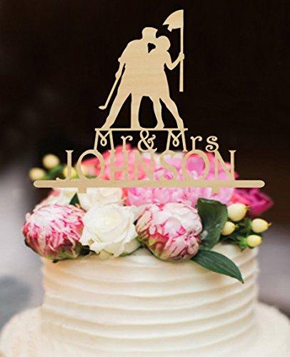 Amazon.com: Rustic Wood Wedding Cake Toppers Bride and Groom Kiss ...