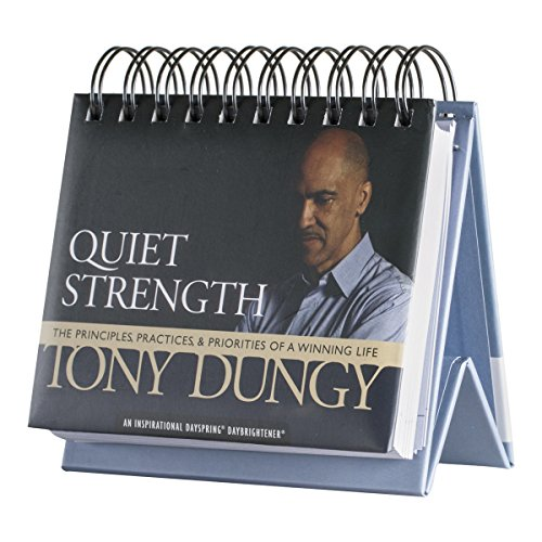DaySpring Tony Dungy's Quiet Strength, DayBrightener Perpetual Flip Calendar, 366 Days of Inspiration (73781)