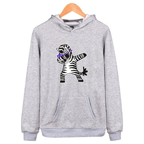 Ballare Adolescente Zebra Cappuccio Pullover Donne Adorabile Lovers Animali per Grigia Uomini Pop Stampata Hip Con SIMYJOY Varsity Felpe nfRBxZ