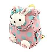 Xinyanmy Süße Kaninchen Babyrucksack Kinderrucksack für Baby Mädchen Kleinkinder 1-3 Jahre im Kindergarten