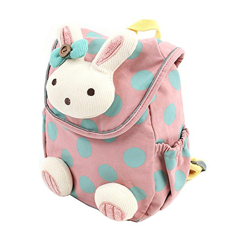 Comfysail Anti-lost Kids Wee Backpack - Cute Bunny Toddler Pink Backpack Best Gift for 1-3 years old Nursery Boys and Girls(small)