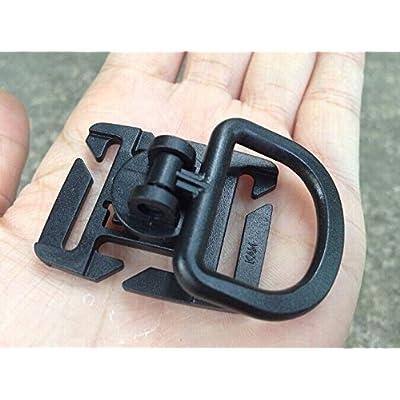 10anneaux en D Rotation Boucle 18mm pour système Molle Sangle Sternum pour suspendre vos clés en toile 25mm bouteille d'eau