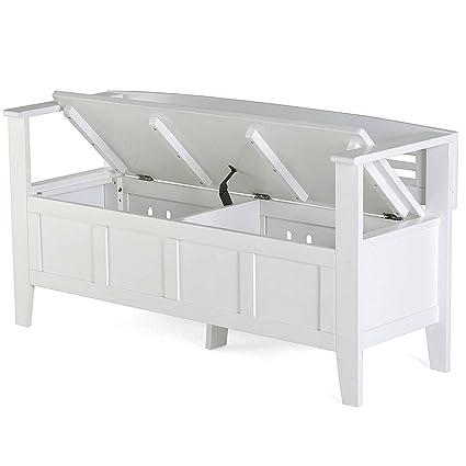 Marvelous Amazon Com Nakshop Rustic Wooden Storage Bench White Seat Beatyapartments Chair Design Images Beatyapartmentscom