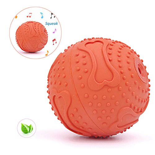 - ThinkPet Squeaky Ball Toy Rubber Interactive Floating Water Fetch Toys for Dog